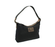CACTUS Canvas And Distressed Oiled Leather Shoulder Bag CL812_81 Black