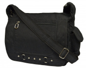 Modetreff Women's Shoulder Bag BLACK L 30 / B 12 / H 24