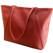 Warm Girl Fashion Simple Vintage Women's Big Shoulder Bag Shopping Handbag Tote Red