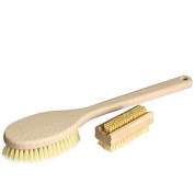 Bath brush kit with Bristles from plant-based Natural fibres, vegan, 2 piece