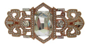 Pick A Gem Art Deco Gatsby Style Rose Gold Crystal Diamante Hair Barrette