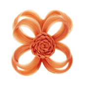 Love Hair Extensions Clip In Flower Hair Accessory, Colour Neon Orange