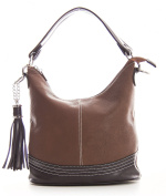 Womens Designer Made Top Handle Bucket Shape Faux Leather Shoulder Bag