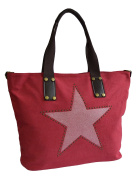 Modetreff Women's Tote Bag Red RED XL