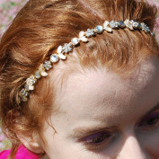 Flower Headband Crystal Hair Band Silver Head Band Bridesmaid Hair Accessory Diamante Wedding Hairband Wedding Headband Rhinestone Hair Jewellery Silver Hair Jewellery Flower Alice Band Gold Headband Headchain Head Chain