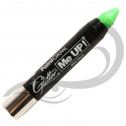 PaintGlow UV Neon Glitter Paint Stick, Mint Green 3 g