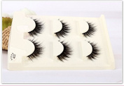 Sexyqueenhair 3 Pairs per set Black False Eyelash Soft Long Makeup Eye Lash Extension