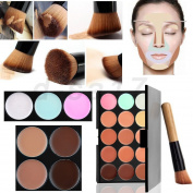 15 Nude assorted corrector Colours Cream Concealer/Highlight/Face - with out brush Contour naked palette Camouflage Palette Dull/Redness Skin/Black Circle kit set 2