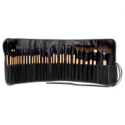 32pcs Pro Makeup Eyebrow Shadow Face Powder Foundation Brushes Set +Pouch Bag