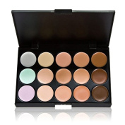 Enjoydeal 15 Colours Face Concealer Palette With 10pcs Cosmetic Brushes Black Gold