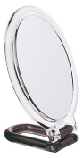 15 x 11.5cm Hand / Stand Oval Mirror x 7 Mag, Black