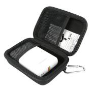 Khanka Hard Case Travel Carrying Storage Bag For Polaroid Snap Instant Digital Camera / Polaroid ZIP Mobile Printer ZINK Zero Ink Printing. Mesh Pocket Fits Polaroid 5.1cm x 7.6cm Premium ZINK Photo Paper - Black