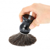 Abody Men's Badger Hair Razor Brush Salon Shaving Brush for Beard Cleaning Shave Facial Brush with Plastic Handle