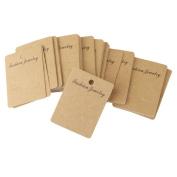 100pcs Kraft Paper Earring Jewellery Display Hang Cards 6.8cm x 5cm