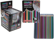 Colour Therapy Branded Pack of 16 Artist Quality Metallic Colouring Pencils