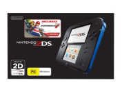 Nintendo 2DS Console Black Blue with Mario Kart 7