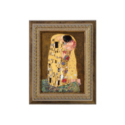 "Goebel 66534637 Wall Picture with Design ""The Kiss"" by Gustav Klimt"