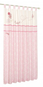 Baby Nursery Forever Friends Pink 100% Cotton Pair of Tab Top Lined Curtains