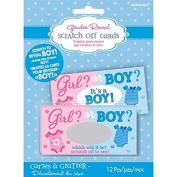 BABY SHOWER GENDER REVEAL SCRATCH CARDS 12 PACK BOY