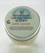 Bimble Organic Raw Cane Sugar Natural Lip Scrub 25g - Salted Caramel Flavour