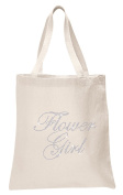 Varsany Ivory Flower Girl Luxury Crystal Bride Tote bag wedding party gift bag Cotton