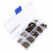 MEIBEADS 4 Colours10 Style 200pcs Finding Starter Beading Jewellery Making DIY Kit Accessories in Clear Box