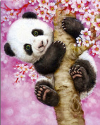 OneHippo 5D Drilled Resin Diamond Painting Needlework Diy Diamond Painting Cross Stitch Diamond Craft Panda (25x30)CM