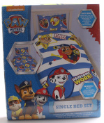 Paw Patrol Pawsome Single Duvet Cover and Pillowcase Set - Rotary Design