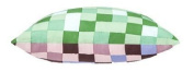 Green & Brown Pixels Scatter Cushion Ready Filled with Hollowfibre Pad. Size