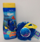 Finding Nemo Dory Bubbly Berry Bubble Bath Bundle Underwater Sponge 710ml