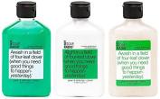 Aromatherapy Body Wash, Exfoliating Scrub, & Lotion Gift Set - Green Tea, White Tea, & Clover - Intensive Positive Luck Formula