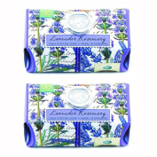 Michel Design Works Lavender Rosemary Large Bath Soap Bar, Set of Two 260ml Individuall Wrapped Bars
