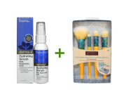 Derma E, Hydrating Serum with Hyaluronic Acid, 2 fl oz (60 ml),EcoTools, Four-Piece Beautiful Complexion Set, 4 Brushes