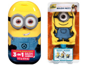 Bundle of Despicable Me Minion Bath Mitt and 3-in-1 Wash (3 items)