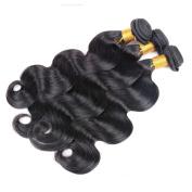 Haorui Brazilian Body Wave Virgin Hair Weave 3 Bundles 6A Unprocessed Virgin Human Hair Extensions Natural Black Hair Colour