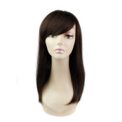 DENIYA Long Straight Wigs With Bangs Real Human Hair Wigs for Women
