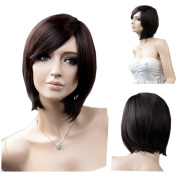 MELADY®(Free Cap) Fashion Casual Brown Short Straight Synthetic Women Girls Lady Hair Replacement Wigs