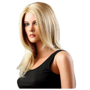 MELADY®(Free Cap) Fashion Casual Blonde Medium-Long Slightly Curly Synthetic Women Girls Lady Hair Replacement Wigs