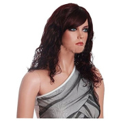 MELADY®(Free Cap) Fashion Casual Burgundy Medium-long Curly Synthetic Women Girls Lady Hair Replacement Wigs