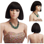 MELADY®(Free Cap) Fashion Casual Black Short Straight BOB Synthetic Women Girls Lady Hair Replacement Wigs