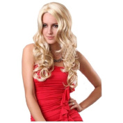 MELADY®(Free Cap) Fashion Casual Blonde Medium-Long Curly Synthetic Women Girls Lady Hair Replacement Wigs
