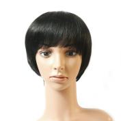20cm Natural Black Colour Human Virgin Hair Simply 100% Brazilian Remi Human Hair Weave