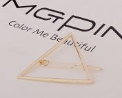 ANKKO 1pcs Hollow Triangle Geometric Metal Barrette Hair Pins Hair Clip