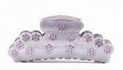 CHRYSE AUSTRIAN RHINESTONE HAIR CLAMP CLAW CLIP BARRETTE PONY HOLDER C703 PURPLE