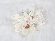 Elegant Lace Flower Hair Clip and Pin crystal and rhinestone