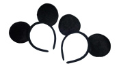 Set of Black Mouse Ears Headbands for Boys inspired by Mickey Mouse Red, Pink, Hot Pink