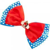 DC Comics Wonder Woman Head Piece Design Stars Hair Bow Tie