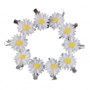 Yueton 10pcs Little Daisy Flower Barrettes Bobby Pin Alligator Clip Hair Clips Bride Head-wear Edge Clip Clamps