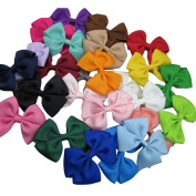 XIMA 25pcs3inch grosgrain ribbon hair bows clips ,baby hairbows clip for girls boutique hair bows
