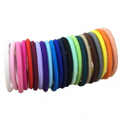 XIMA 100pcs 4mm Elastic Hairband with NO Buckle,Elastic Hair Ties for Baby Hair Accessories